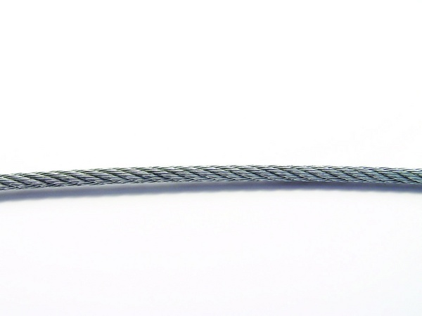 Steel ropes zinc-coated